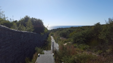 Walkway along the wall of St Patrick's Estate