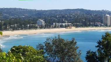 The view to Manly from the estate gardens