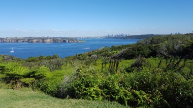 The view across to the city of Sydney