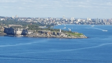 Mosman and the Eastern Suburbs of Sydney in the distance