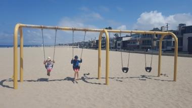 Swings on Hermosa Beach