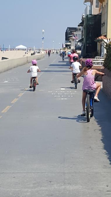 Cycling along The Strand Beach Path